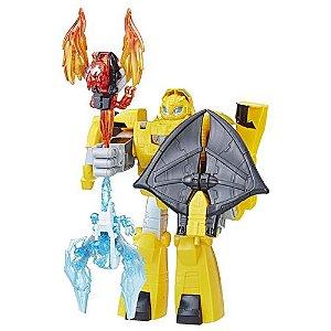 Boneco Transformers Bumblebee Cavaleiro Vigilante Playskool - Hasbro