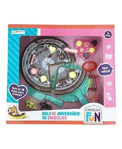 Brinquedo Bolo de Aniversário de Chocolate - Creative Fun