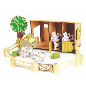 Brinquedo de Madeira Fazendinha Estabulo 363
