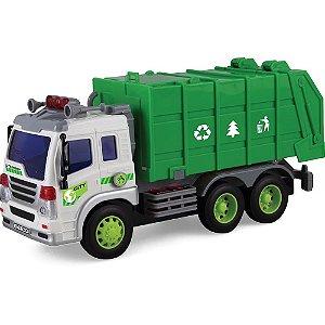 Caminhão de Lixo - Miniatura Super Caminhão Limpa Cidade