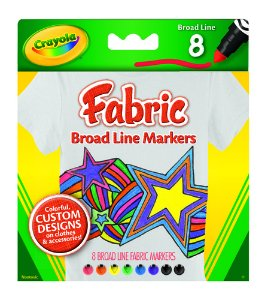 Canetinha Tecido 8 Cores Vivas - Crayola