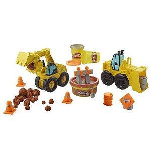 Conjunto Massa de Modelar - Play Doh - Escavadeira e Carregadeira - Hasbro