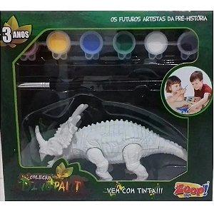 Dinossauro Dino Paint com tinta e pincel - Zoop Toys