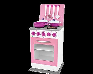 Fogão Super Chef madeira Rosa