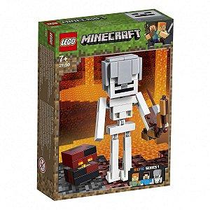 LEGO Minecraft Esqueleton Gigante e Cubo de Magma