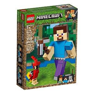 LEGO Minecraft Steve Gigante e Papagaio