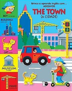 Livro Bilíngue Brinco e Aprendo Inglês com... Adesivos - A Cidade