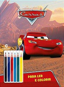 Livro de Colorir Carros - Ler e Colorir com Lápis de Cor