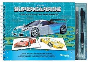 Livro de Desenho: Super Carros - Cria A Máquina Dos Seus Sonhos