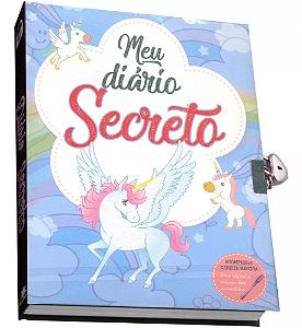 Livro Meu Diário Secreto Unicórnio com Caneta Mágica - Azul