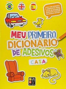 Livro Meu Primeiro Dicionário de Adesivos Trilingue Casa