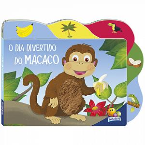 Livro O Dia divertido do Macaco - Abas e Texturas