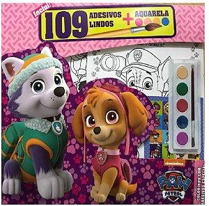 Livro Patrulha Canina Colorindo com Adesivos e Aquarela
