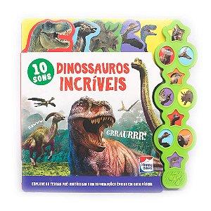 Livro Sonoro Dinossauros Incríveis - Supersons Com Abas