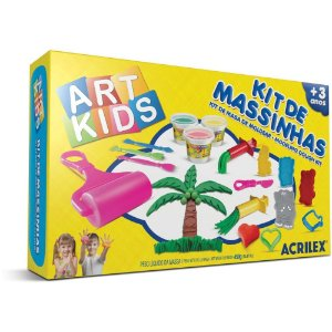 Massinha de Modelar Art Kids Kit com 450g para Modelar - Acrilex