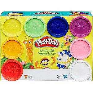 Massinha Play-Doh Kit com 8 Potes Arco-íris - Hasbro