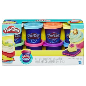 Massinha Play-Doh Kit com 8 Potes de Massinhas Plus Coloridos - Hasbro