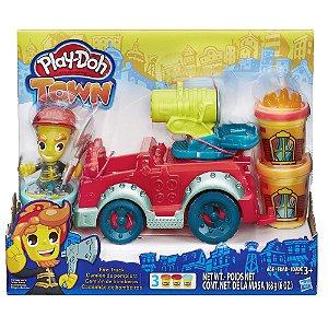 Massinha Play-Doh Town Carro de Bombeiros - Hasbro