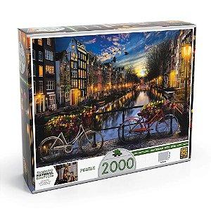 Quebra-Cabeça Puzzle Grow 2000 peças Verão em Amsterdã
