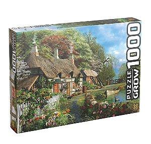 Quebra-Cabeça Puzzle Grow 1000 peças Casa no Lago
