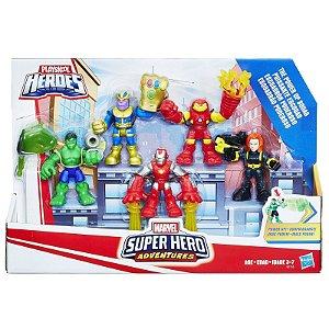 Super Hero Adventures - Esquadrão Poderoso - 5 Bonecos  Marvel