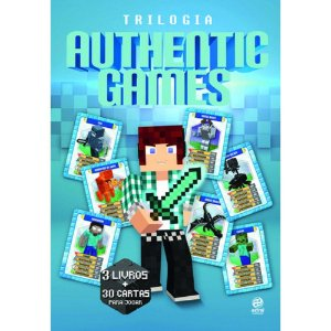 Trilogia Authenticgames Box com 03 Livros + 30 Cartas