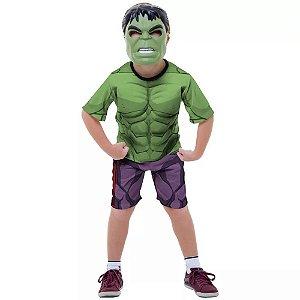 Fantasia Hulk Curta com Mascara