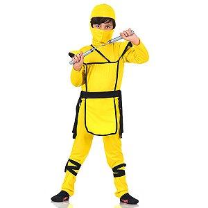 Fantasia Ninja Luxo Amarelo