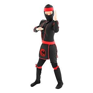 Fantasia Ninja Luxo Preto