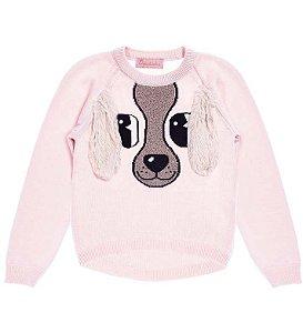 Blusa de Tricot estampa Cachorro com Orelha -  Pituchinhu´s