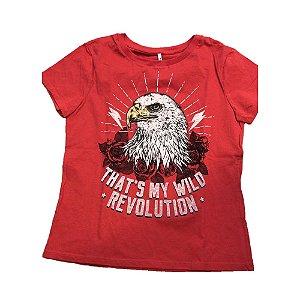 Blusa Infantil Feminina Authoria Águia - Vermelha