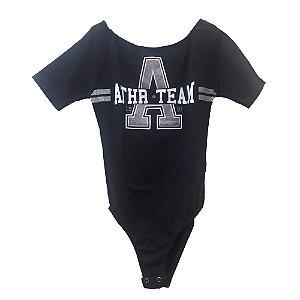 Body Infantil Feminino Authoria Athr Team - Preto
