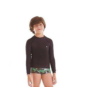 Camiseta Infantil Siri KIDS Proteção UV 50+ - Preto