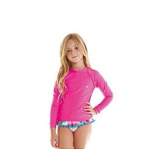 Camiseta Infantil Siri KIDS Proteção UV 50+ - Rosa