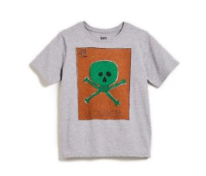 Camiseta Silk Calavera - Bento