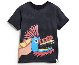 Camiseta Silk Dragão Punk Preta - Bento