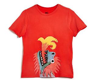 Camiseta Silk Dragão Punk Vermelha - Bento