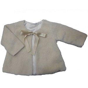 Casaco de Bebê de Pele Off White - roana