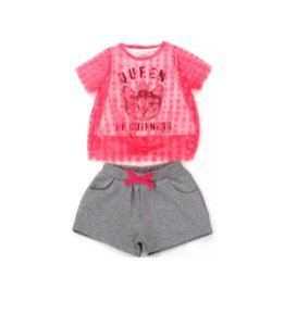 Conjunto Infantil Blusa e Shorts Queen Of Cuteness - Momi