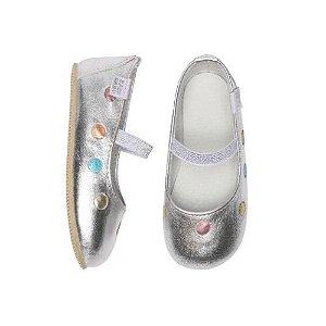 Sapatilha Infantil Babu Uabu Confete - Prata