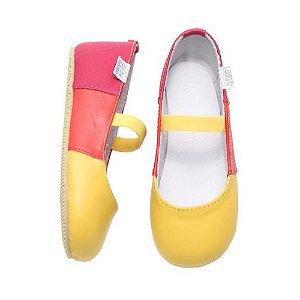 Sapatilha Infantil Babu Uabu Tricolori - Amarelo