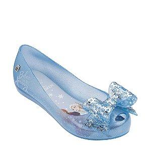 Sapatilha Infantil Melissa Mel Ultragirl Frozen - Perolado e Azul com Glitter