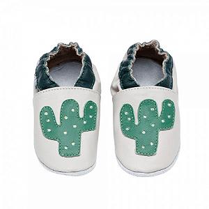 Sapatinho Pantufa Cactus Bege e Verde - Babo Uabu