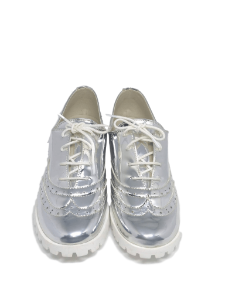 Sapato Oxford Prata Espelhado - Menina Rio
