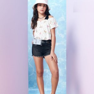 Short Jeans Preto - I'am Authoria