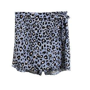 Shorts Infantil Feminino Authoria Oncinha - Azul