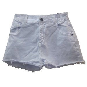 Shorts Infantil Feminino Fruto Sarja - Branco