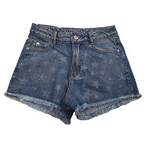 Shorts Jeans Infantil Feminino I'am Authoria Estrelas