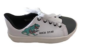 Tênis Branco Dino Rock Star - Pesh