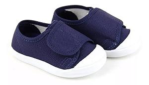 Tênis Infantil Casual Velcro Azul Marinho - Babo Uabu